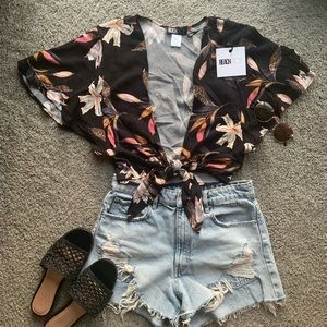 Beach Riot Hawaiian Top
